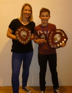 Jayne Thomas Chairmans Award and Ben Thomas Junior Male Athlete of the year 2014