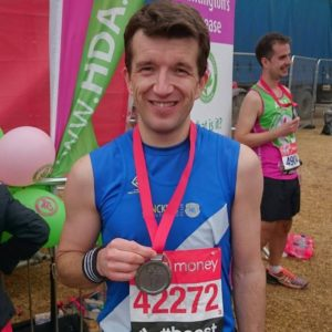 Men's vice captain Ed Nixon after his London marathon PB of 3:29:49